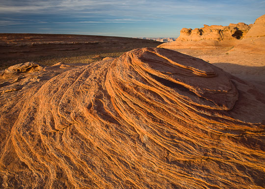Layers of navajo sandstone create an unusual formation, Arizona.