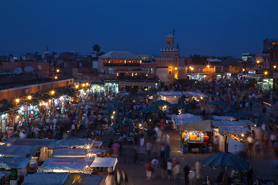 Twilight in Marrakech, Morocco