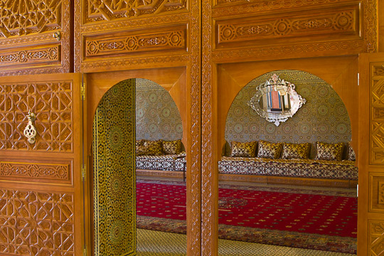 Ornate room interior, Morocco