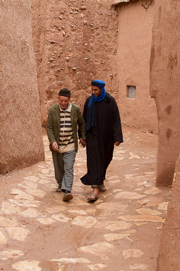 Men walking, old Kasbah, Morocco