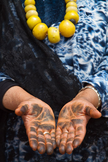 Henna Stained Hands, Morocco