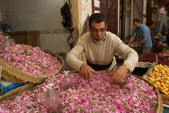 Rose Petal Vendor, Morocco