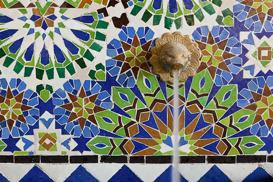 Mosaic Fountain Detail, Morocco