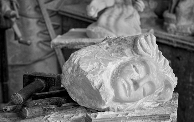 alabaster carving, Volterra, Italy